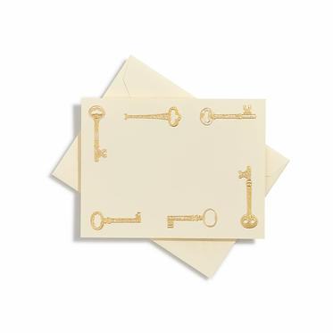 Keys Gold Notecards | Set of 10 | Bernard Maisner
