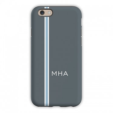 Boatman Geller Racing Stripe Charcoal & Blue Phone Case