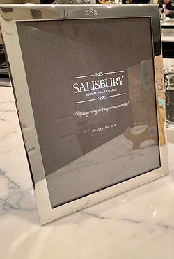 """Engraved Pewter Monogrammed Classic 8""""x10""""Picture Frame By Salisbury"""