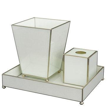White Lizard Print Bathroom Vanity Set