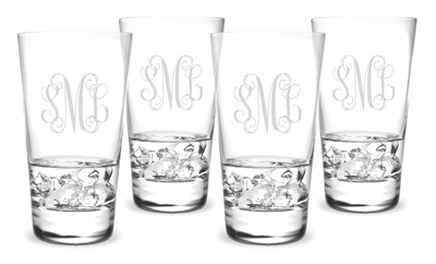 Monogrammed Highball Glasses 15.5oz SET OF 4