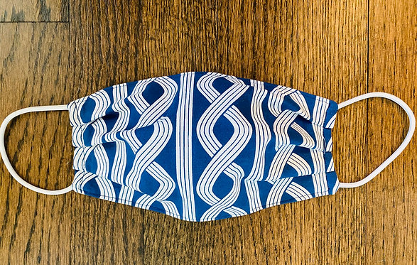 Nautical Twist Fabric Face Mask - Multiple Sizes - Classic or Filter Style