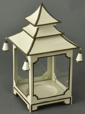 Cream and Brown Candle Pagoda (2 Sizes)