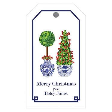 Christmas Topiary Gift Tags
