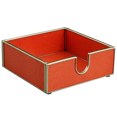 Orange Lizard Print Cocktail Napkin Holder