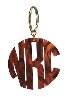 Custom Monogram Round Cutout Key Chain