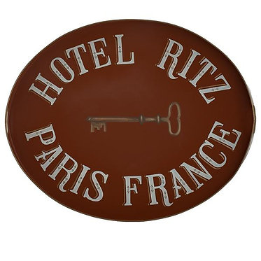 Ritz Paris Metal Hand Painted Tray