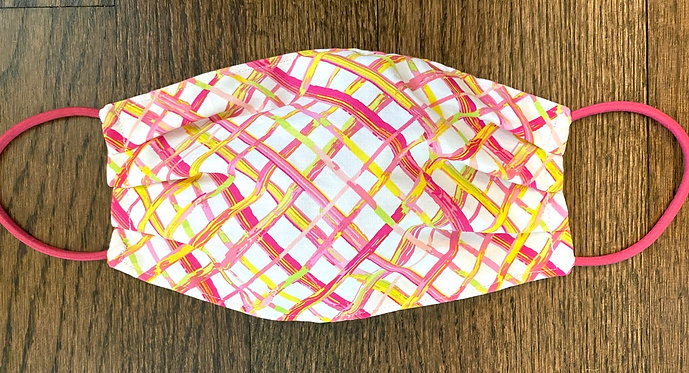 Bamboo Pink Fabric Face Mask - Multiple Sizes - Classic or Filter Style