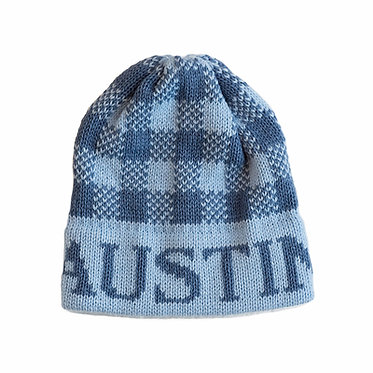 Gingham Name Hat