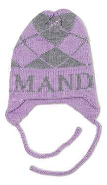 Argyle & Name Hat With Earflaps
