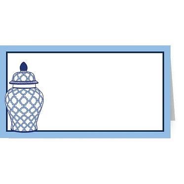 Geometric Ginger Jar Fold Over Place Cards Set of 10