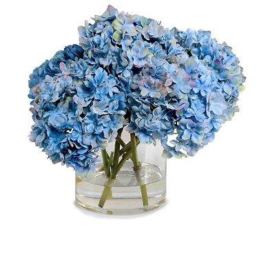 "11.5"" Hydrangea Arrangement - Blue"