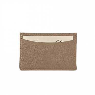 Graphic Image Leather Monogrammed Card Case