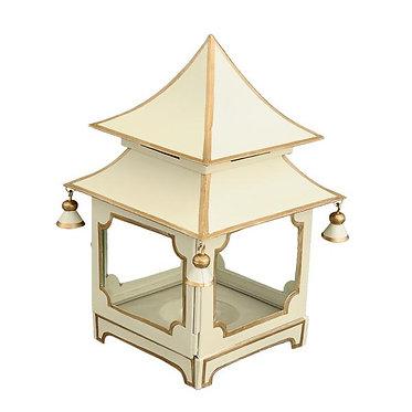 Cream & Gold Candle Pagoda (2 Sizes)