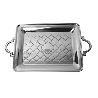 Engraved Monogrammed Casablanca Medium Serving Tray