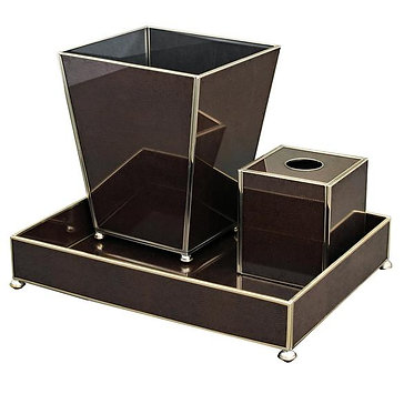 Brown Lizard Print Bathroom Vanity Set