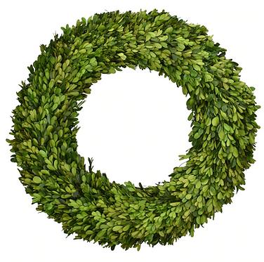 "20"" Preserved Boxwood Wreath"