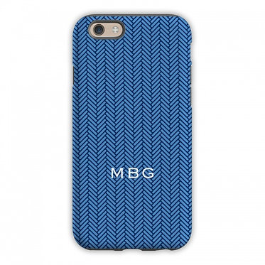 Boatman Geller Herringbone Blue Phone Case