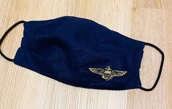 US Navy Wings Embroidered Fabric Face Mask - Multiple Sizes