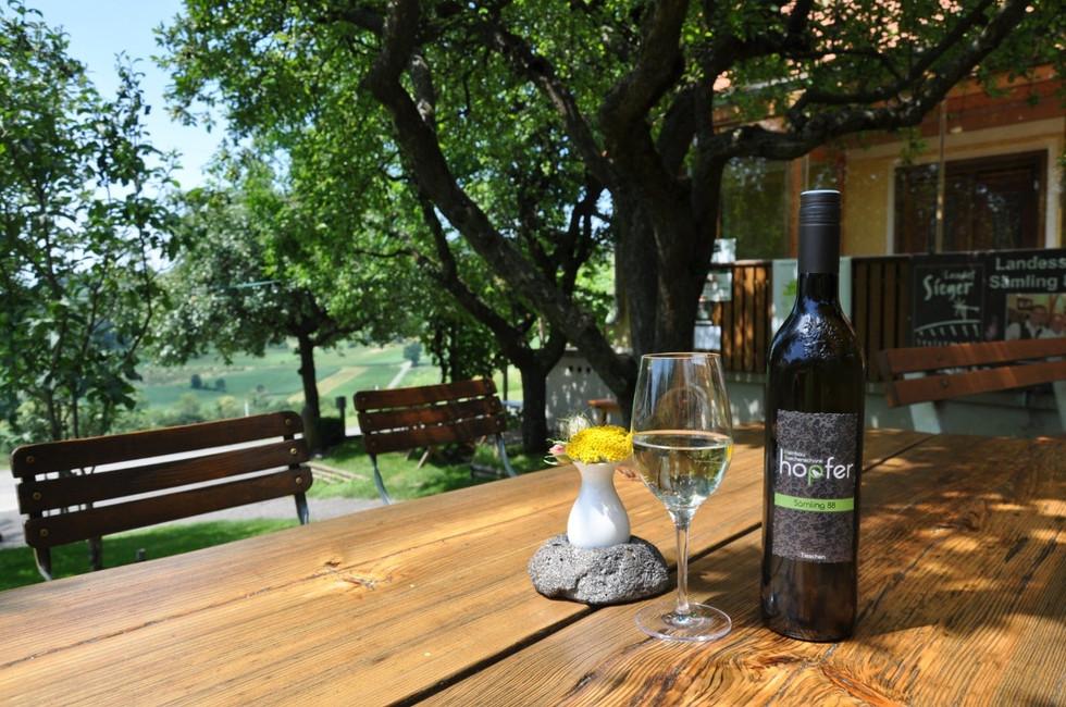 Buschenschank Szene Wein Garten - Weinba