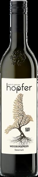 Etikett 2020 Flasche Weißburgunder Explo