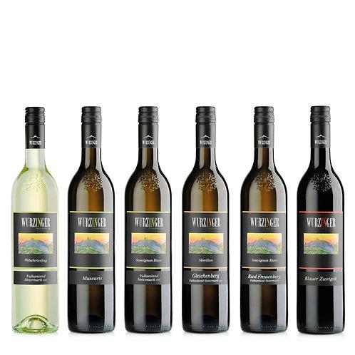 Kennenlern-Paket, neuen Jahrgang 2020 online kaufen, Weißwein & Rotwein von Weinbau Wurzinger, Bad Gleichenberg, Steiermark