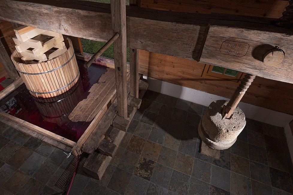 Weinbau Wurzinger Baumpresse Detail