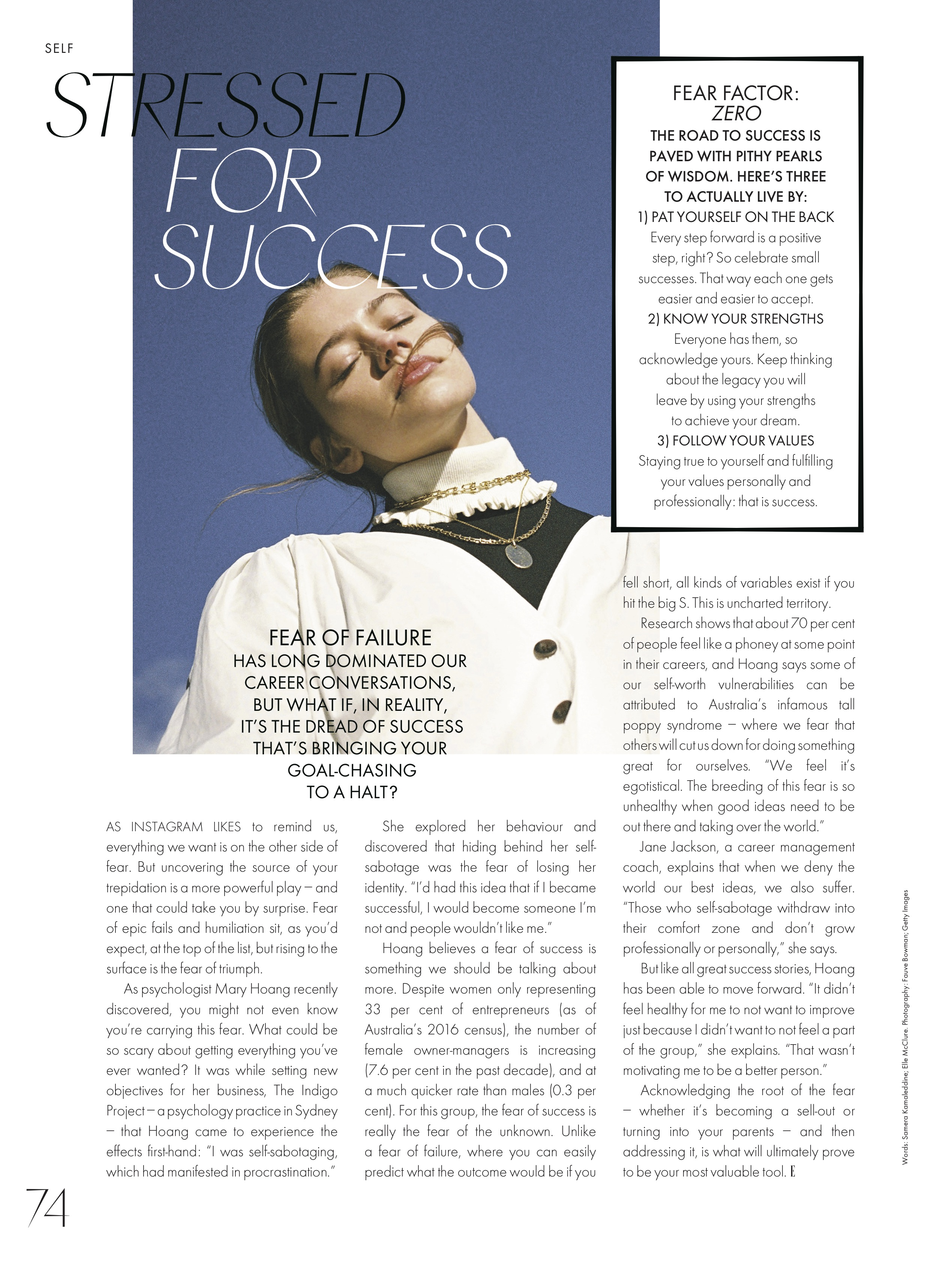 ELLE March 2019: Fear of success