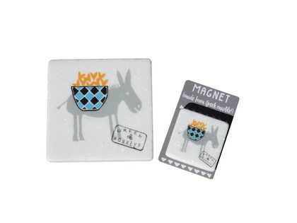 marble coaster - magnet
