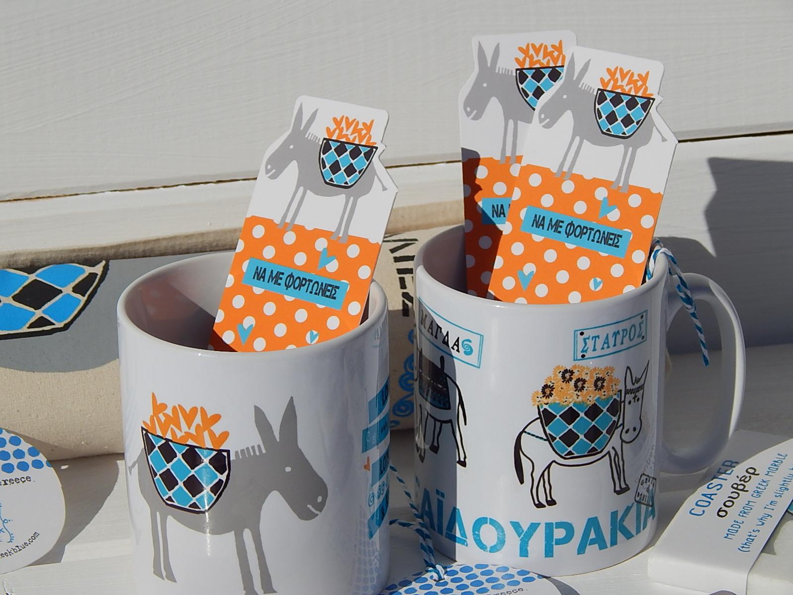 Ceramic Mugs and Bookmarks
