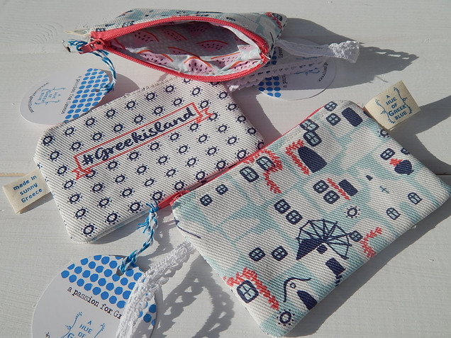 Printed Purse with Liberty Fabric Lining.