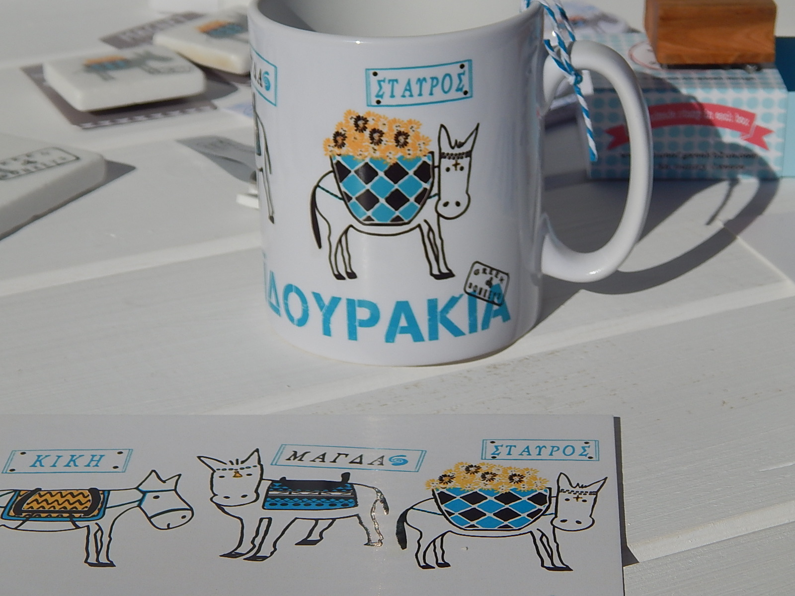 Donkey Trio Ceramic Mug