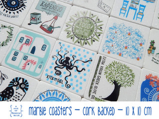 New Designs Added - Marble Coasters