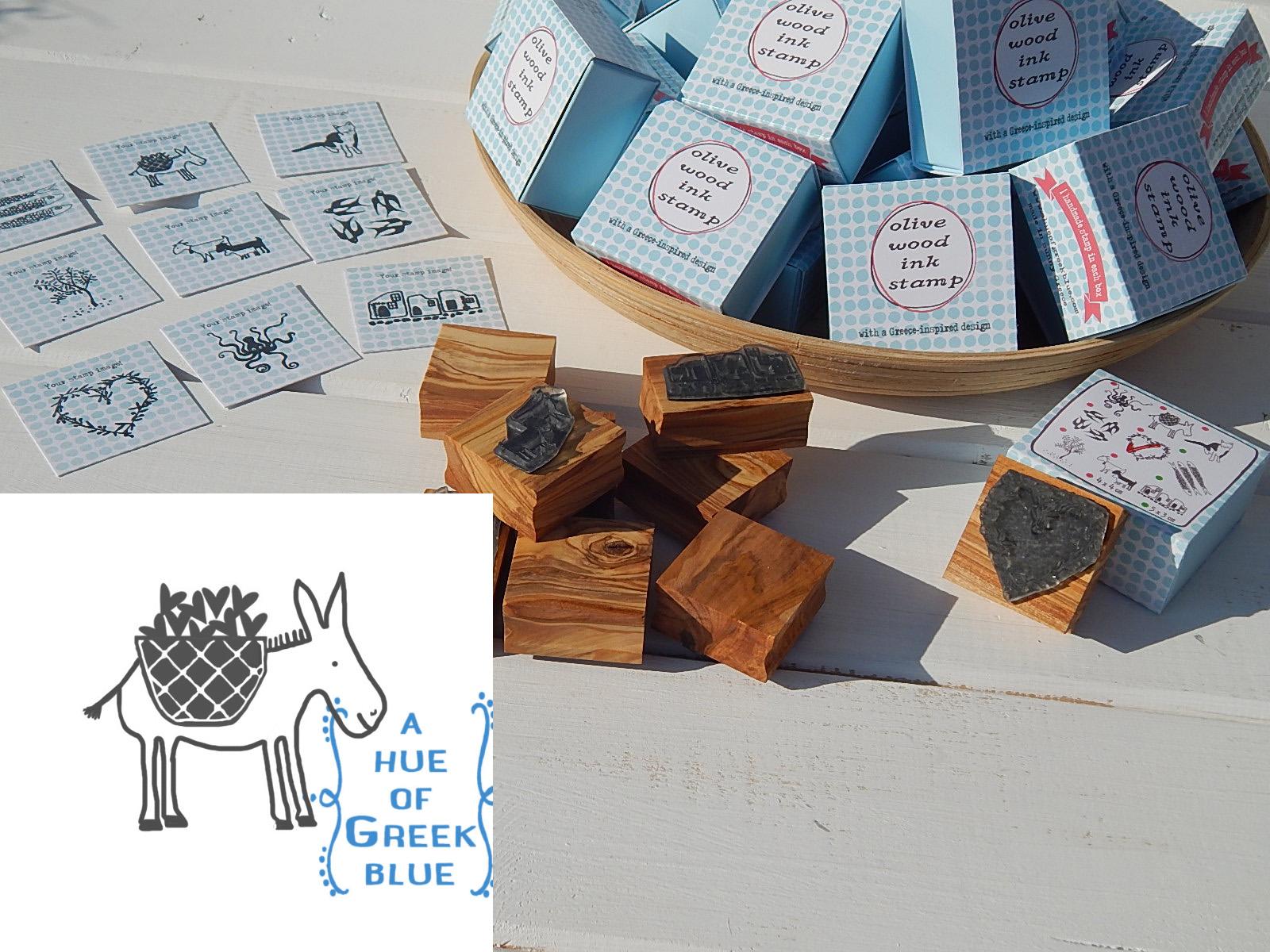 Olive Wood Stamp in a Box - Greek Do