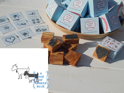 Olive wood Stamp in a Box - Goats!