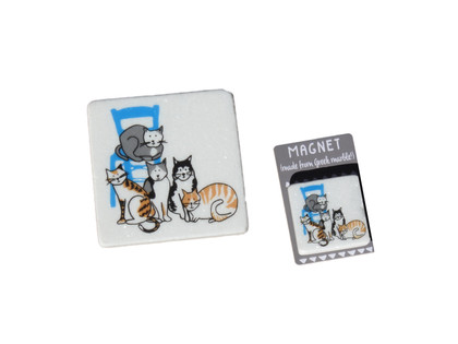 marble coaster and magnet