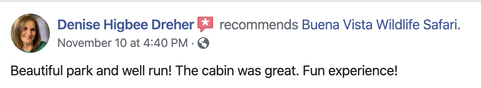 A review from Facebook