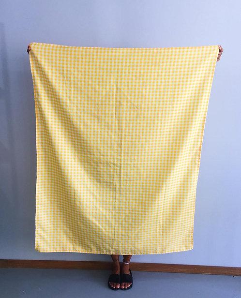 Toalha Quadriculada Amarela (quadro menor)