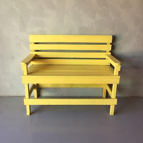 Banco com Encosto Amarelo >> 2 Lugares <<