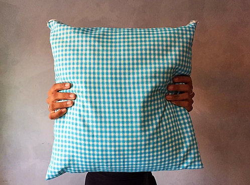 Almofada Azul Quadriculado