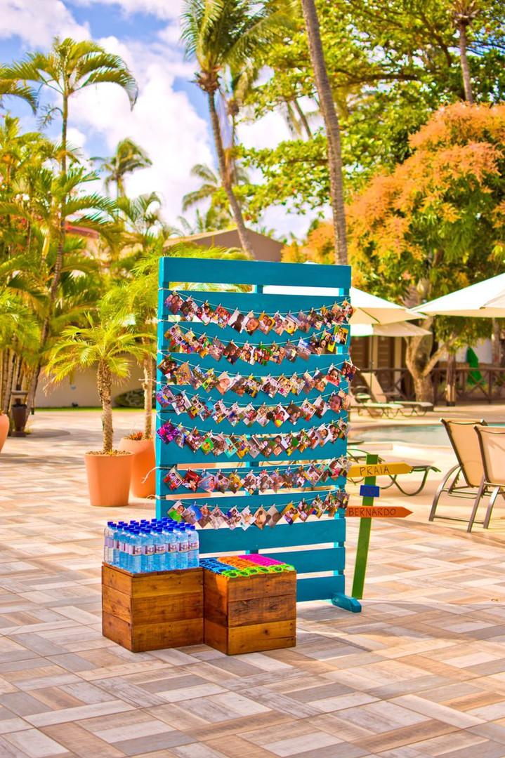 Painel de Pallet Azul Royal