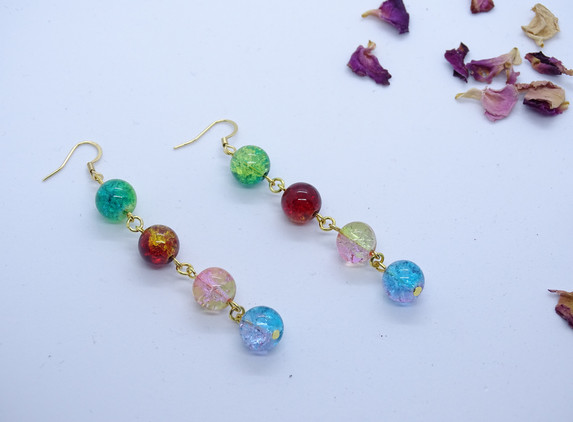 colorful-earrings-glass-beads-multicolor-christmas-jewelry