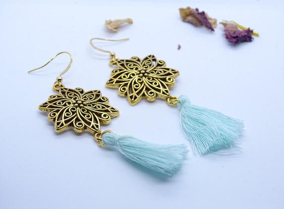 golden-flower-and-aqua-tassel-boho-style