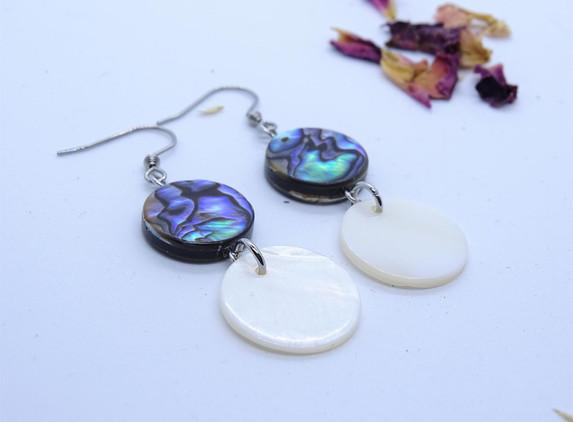 shell-drop-earrings-paua-abalone-shell-and-white-natural-shell