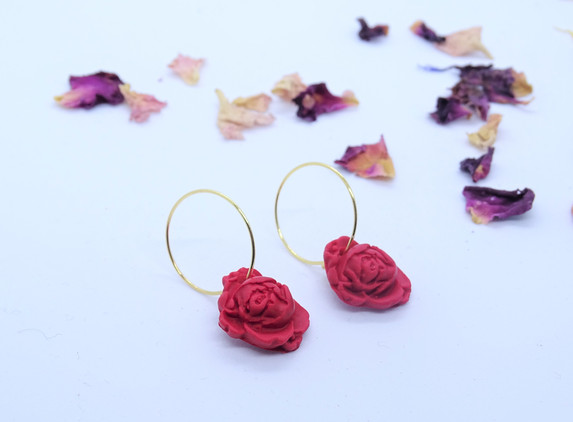 polymer-clay-rose-hoops