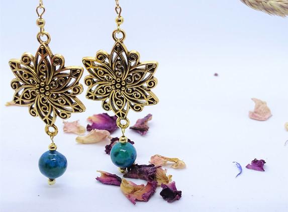 golden-flower-earrings