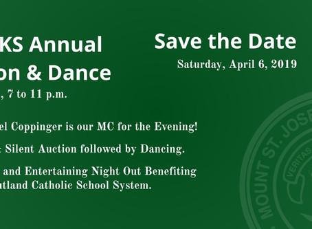 MSJ-CKS Annual Auction & Dance set for April 6