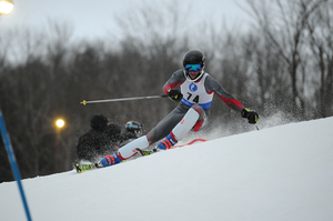 Lucas Pencak competes in skiing event