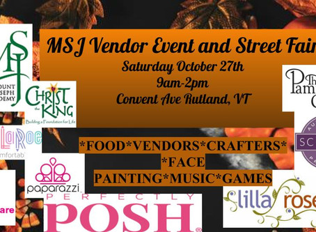 MSJ to hold vendor and street fair Oct. 27