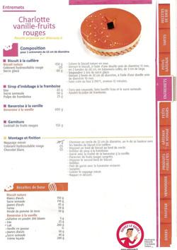 charlotte vanille fruits rouges